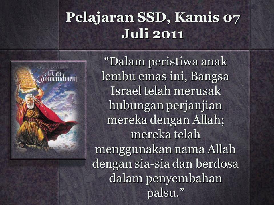 Pelajaran SSD, Kamis 07 Juli 2011