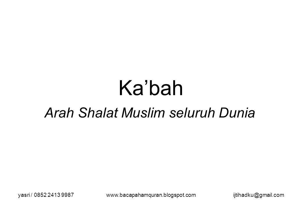 Arah Shalat Muslim seluruh Dunia