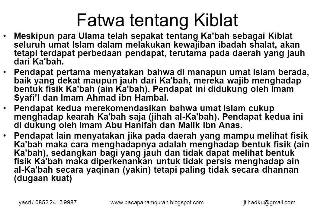 Fatwa tentang Kiblat