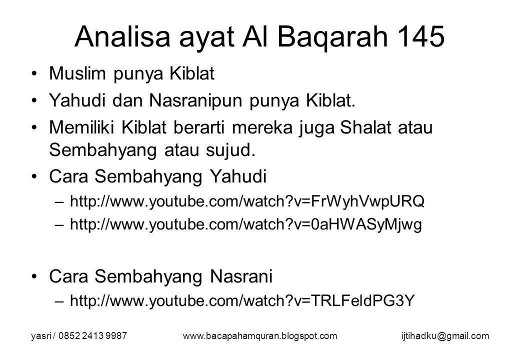 Analisa ayat Al Baqarah 145