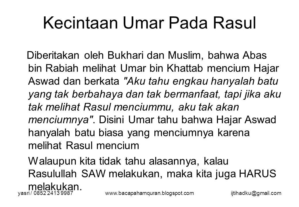 Kecintaan Umar Pada Rasul