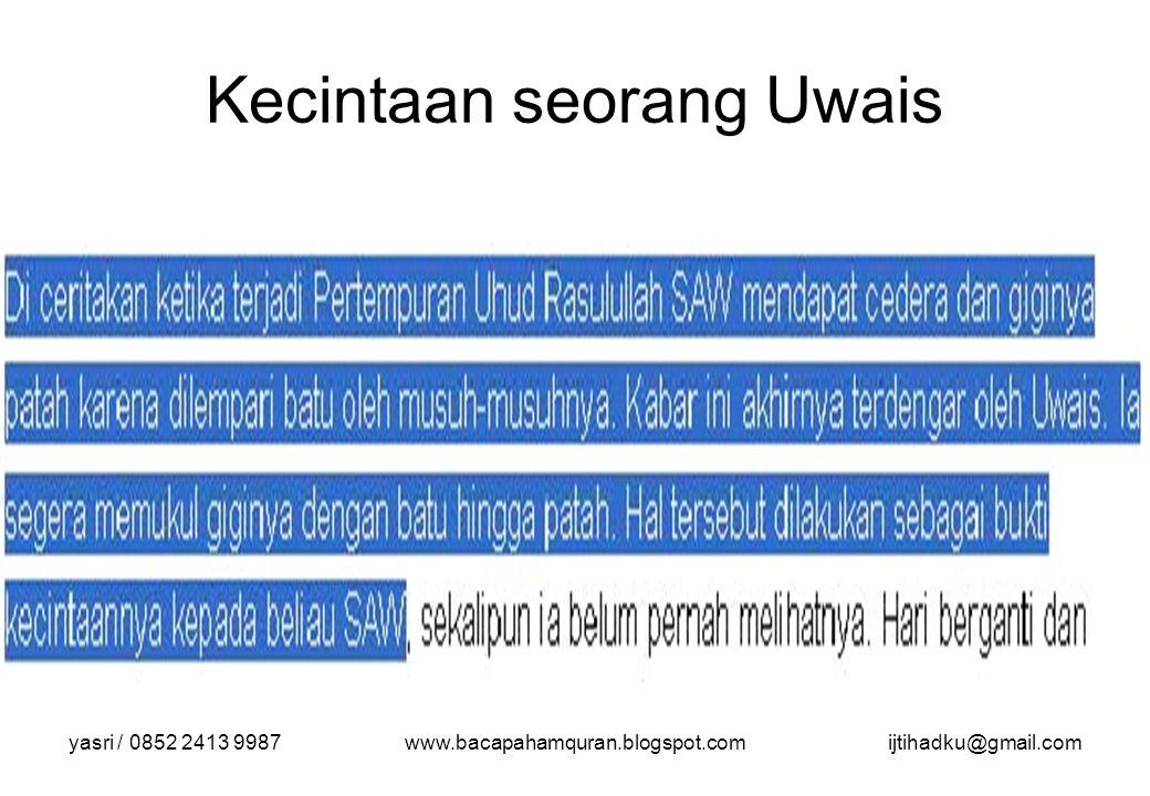 Kecintaan seorang Uwais