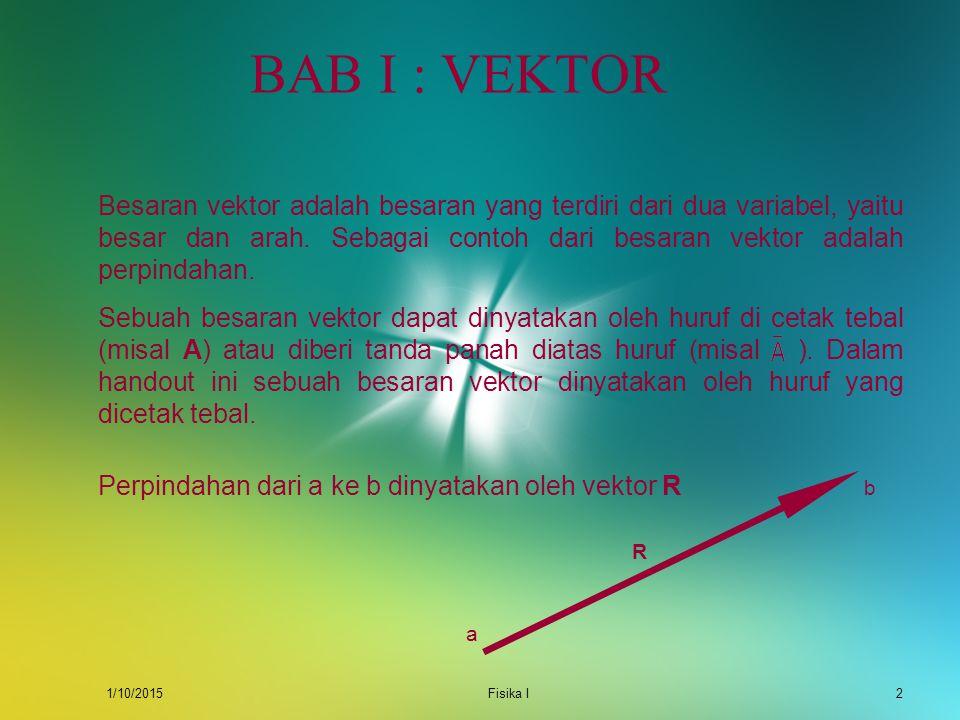 BAB I : VEKTOR