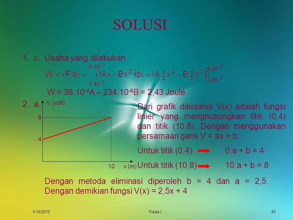 SOLUSI 1. c. Usaha yang dilakukan :