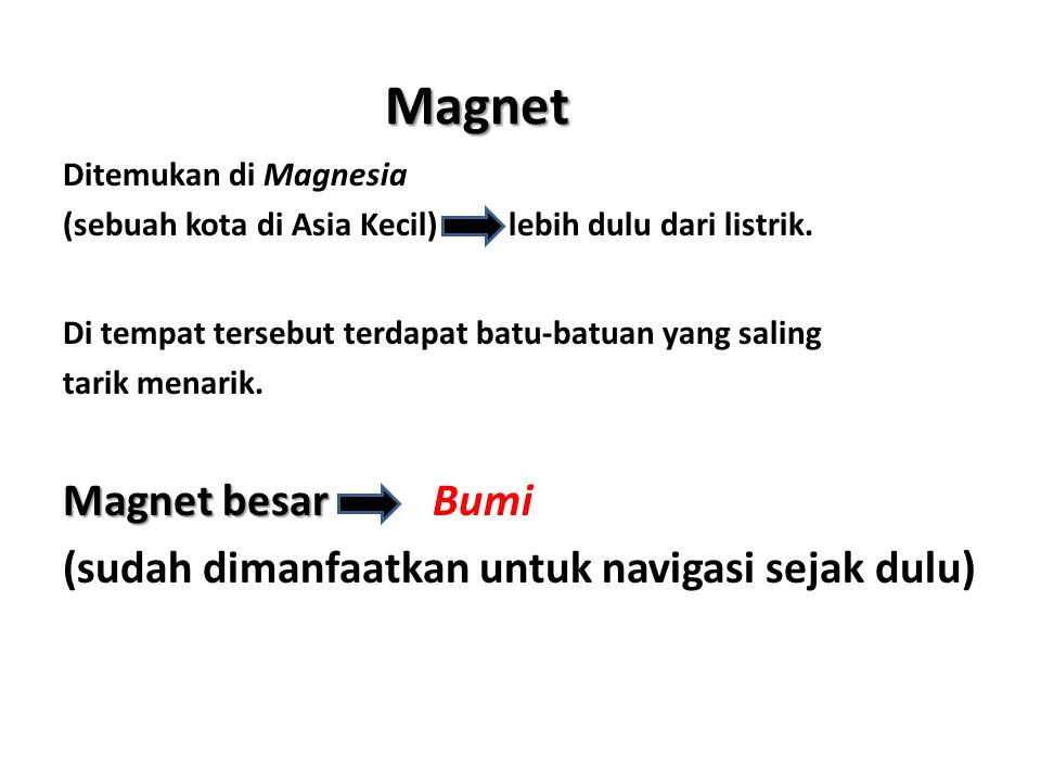 Magnet Magnet besar Bumi
