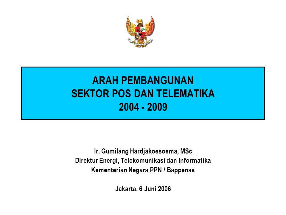 ARAH PEMBANGUNAN SEKTOR POS DAN TELEMATIKA 2004 - 2009