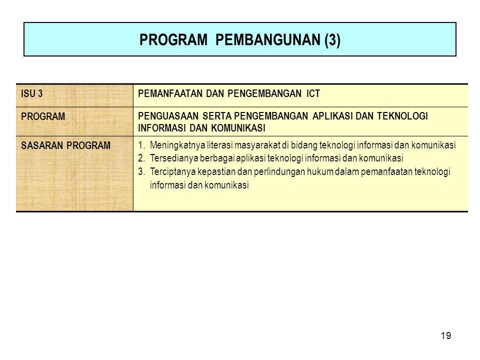PROGRAM PEMBANGUNAN (3)