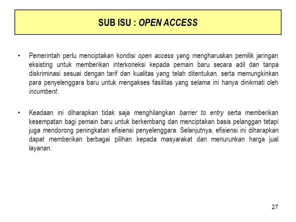 SUB ISU : OPEN ACCESS