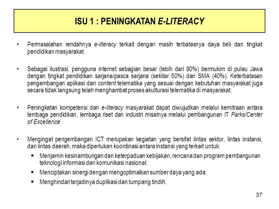 ISU 1 : PENINGKATAN E-LITERACY