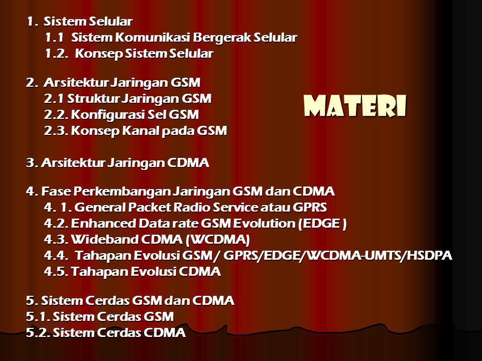 Materi 1. Sistem Selular 1.1 Sistem Komunikasi Bergerak Selular