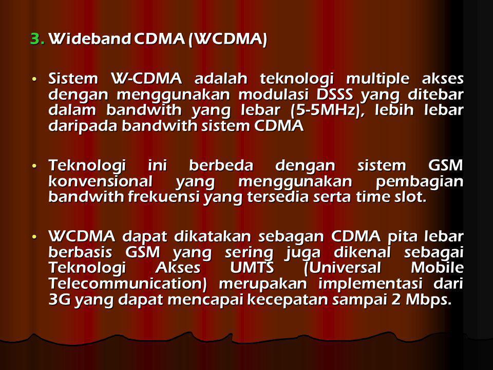 3. Wideband CDMA (WCDMA)