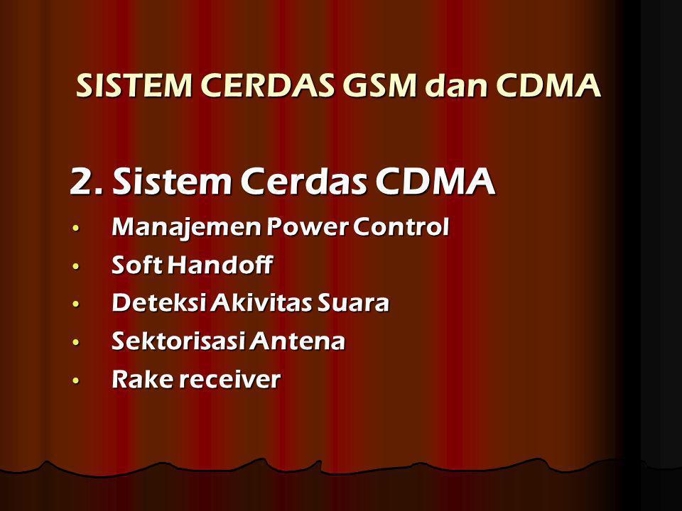 SISTEM CERDAS GSM dan CDMA