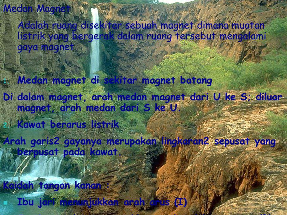 Medan Magnet Adalah ruang disekitar sebuah magnet dimana muatan listrik yang bergerak dalam ruang tersebut mengalami gaya magnet.