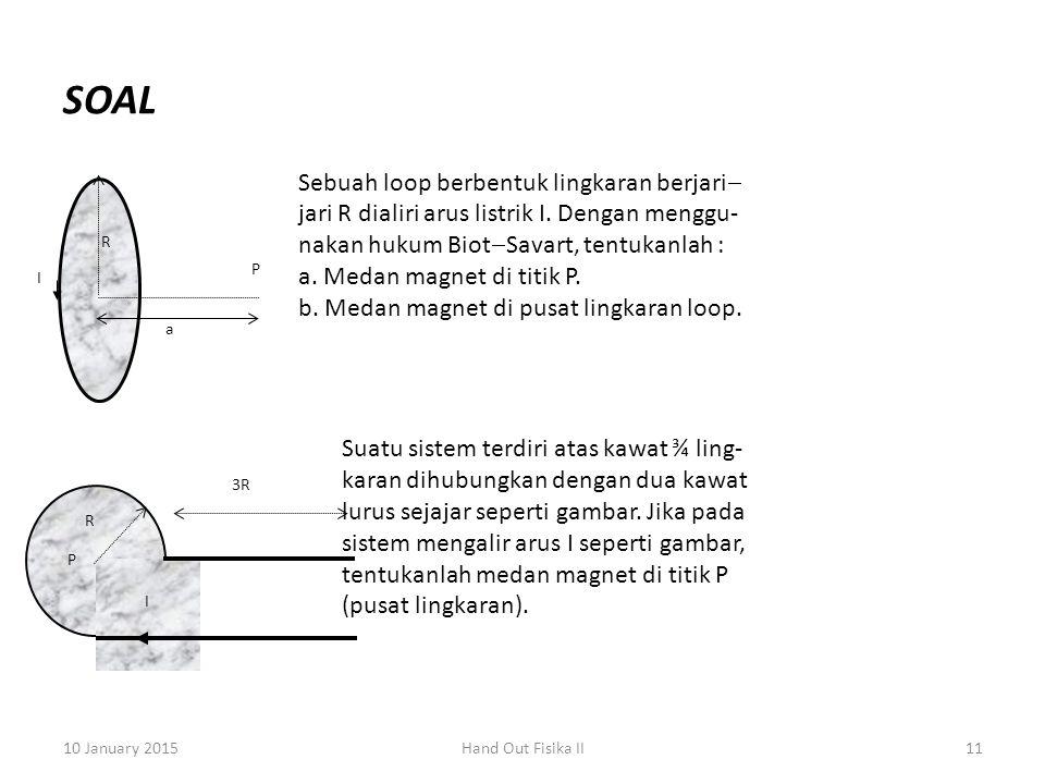 SOAL Sebuah loop berbentuk lingkaran berjari