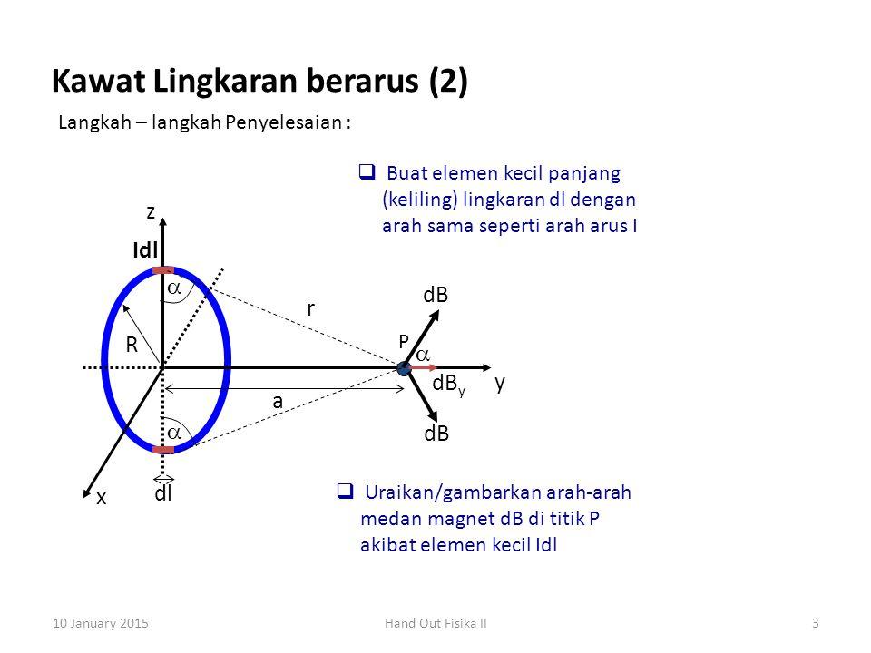 Kawat Lingkaran berarus (2)