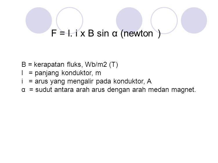 F = l. i x B sin α (newton )