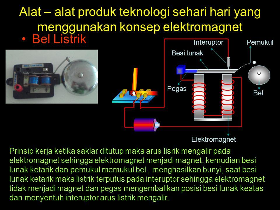 Alat – alat produk teknologi sehari hari yang menggunakan konsep elektromagnet