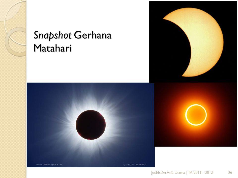 Snapshot Gerhana Matahari