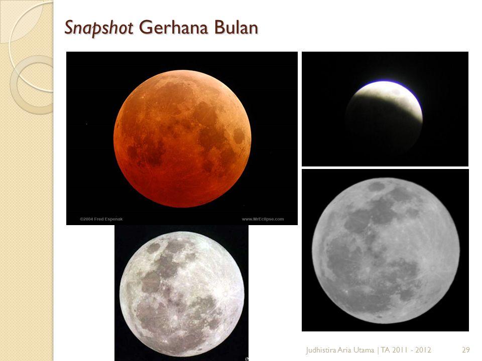 Snapshot Gerhana Bulan