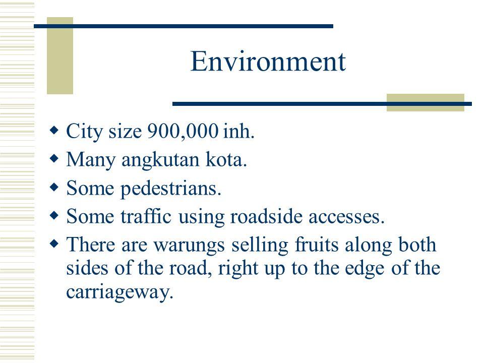 Environment City size 900,000 inh. Many angkutan kota.