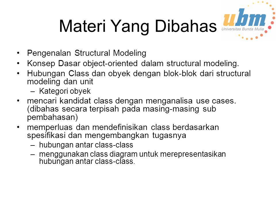 Materi Yang Dibahas Pengenalan Structural Modeling
