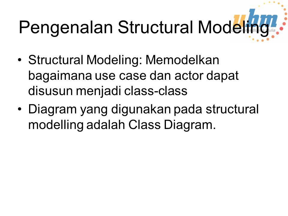 Pengenalan Structural Modeling