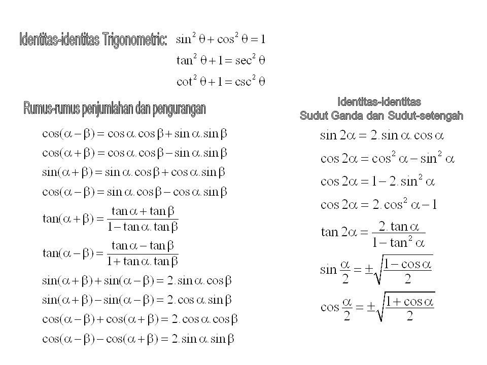 Identitas-identitas Trigonometric: