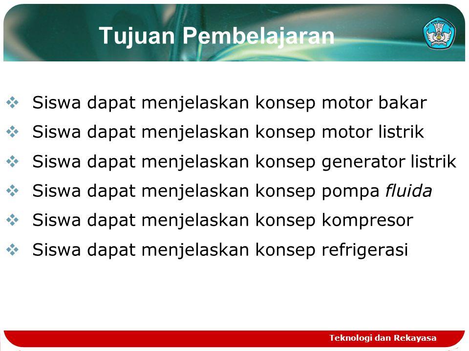 Tujuan Pembelajaran Siswa dapat menjelaskan konsep motor bakar