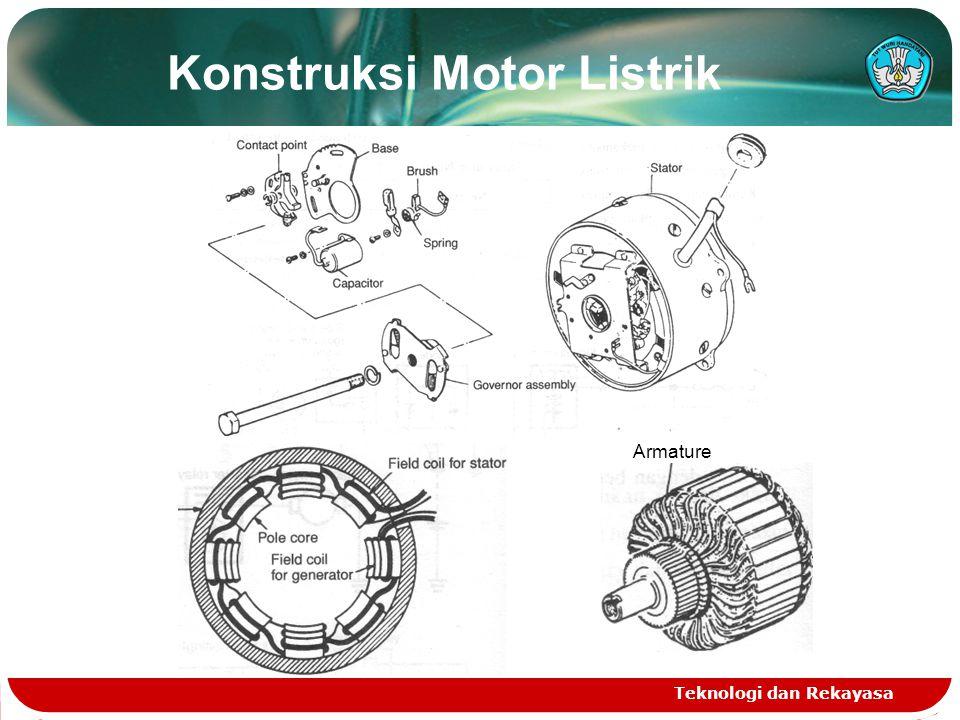 Konstruksi Motor Listrik