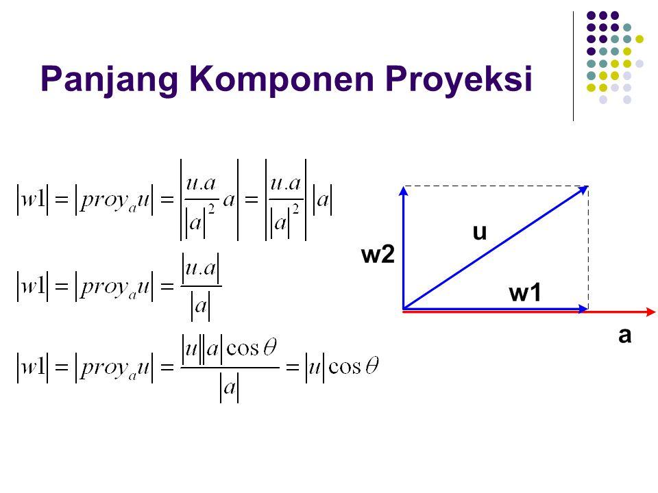 Panjang Komponen Proyeksi