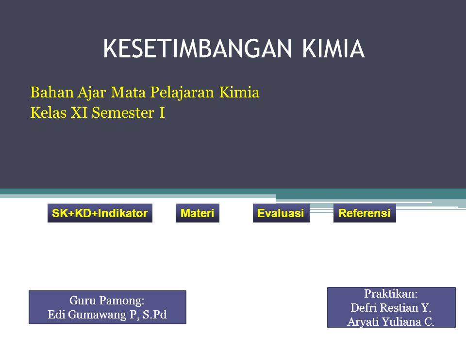 Bahan Ajar Mata Pelajaran Kimia Kelas XI Semester I