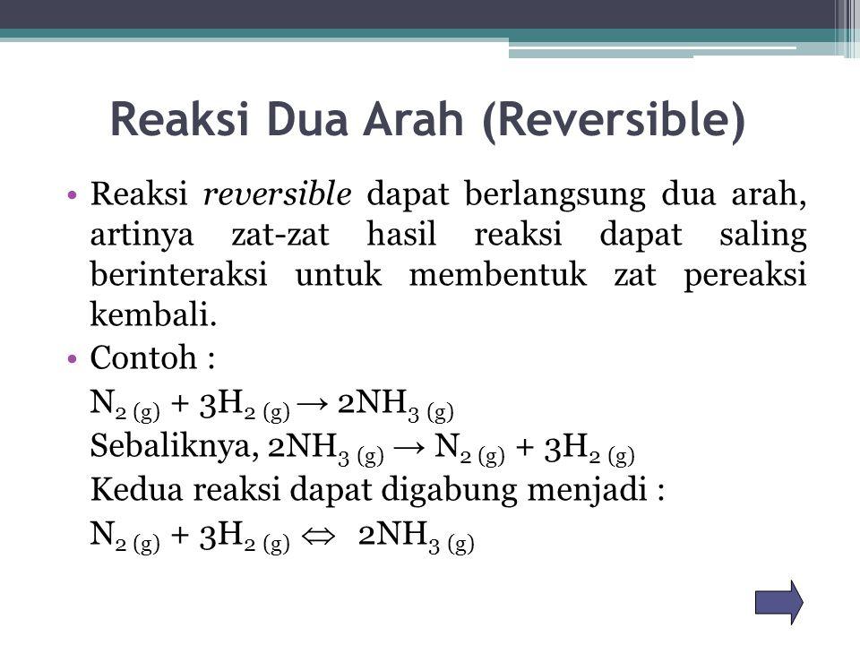Reaksi Dua Arah (Reversible)