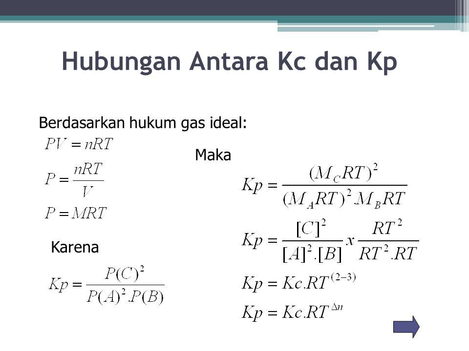 Hubungan Antara Kc dan Kp