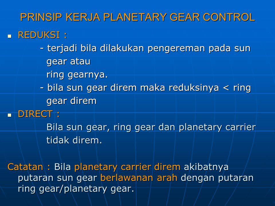 PRINSIP KERJA PLANETARY GEAR CONTROL