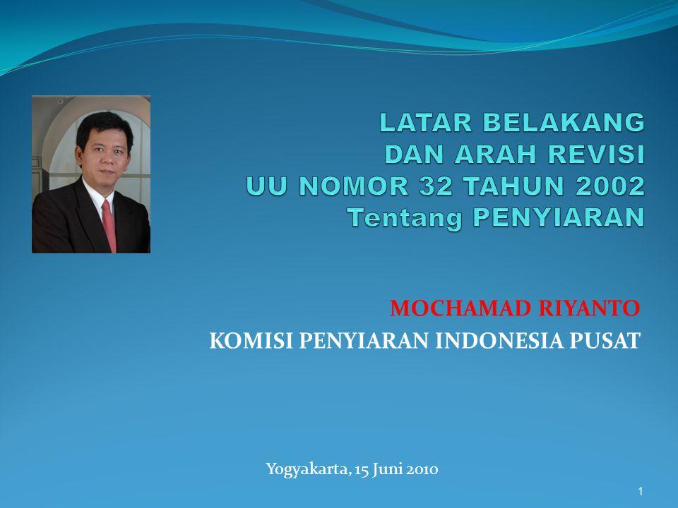 MOCHAMAD RIYANTO KOMISI PENYIARAN INDONESIA PUSAT