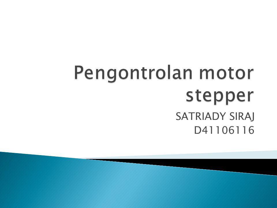 Pengontrolan motor stepper