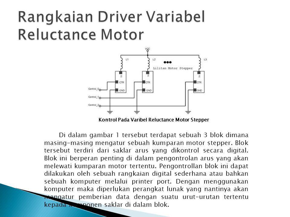 Rangkaian Driver Variabel Reluctance Motor