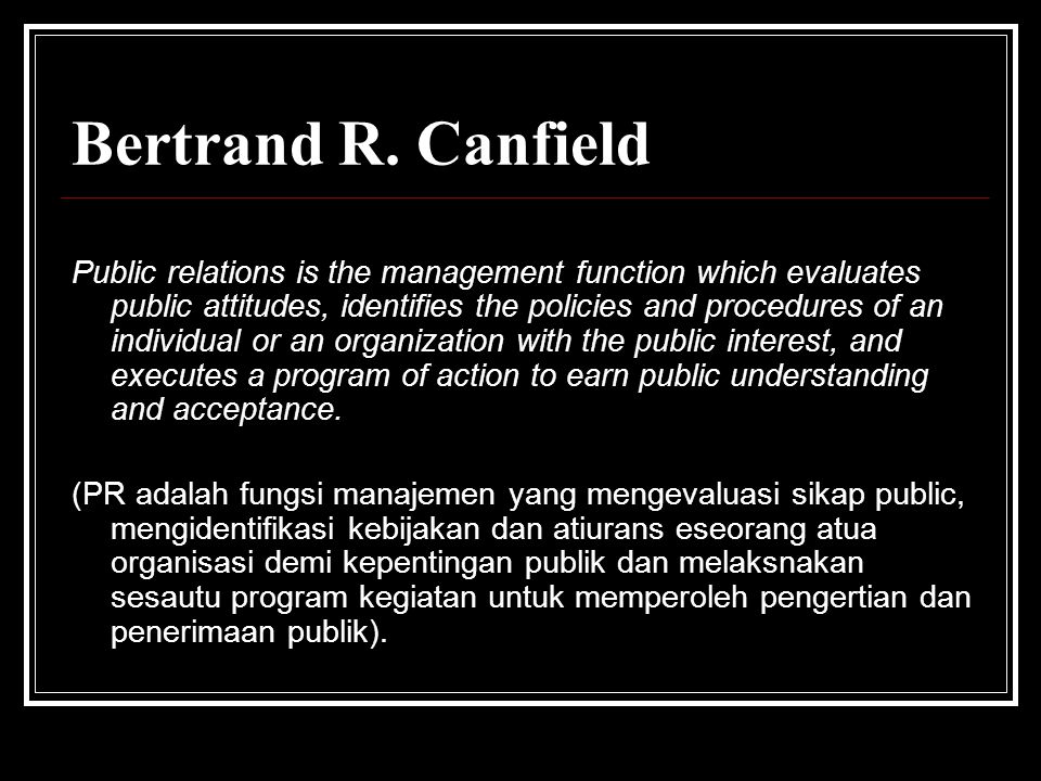 Bertrand R. Canfield