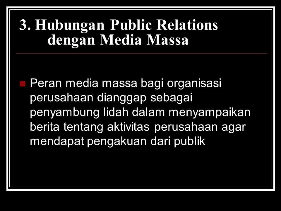 3. Hubungan Public Relations dengan Media Massa
