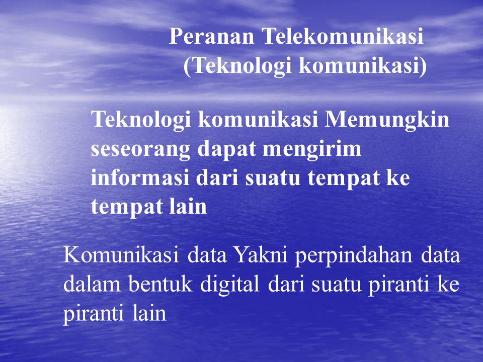 Peranan Telekomunikasi (Teknologi komunikasi)