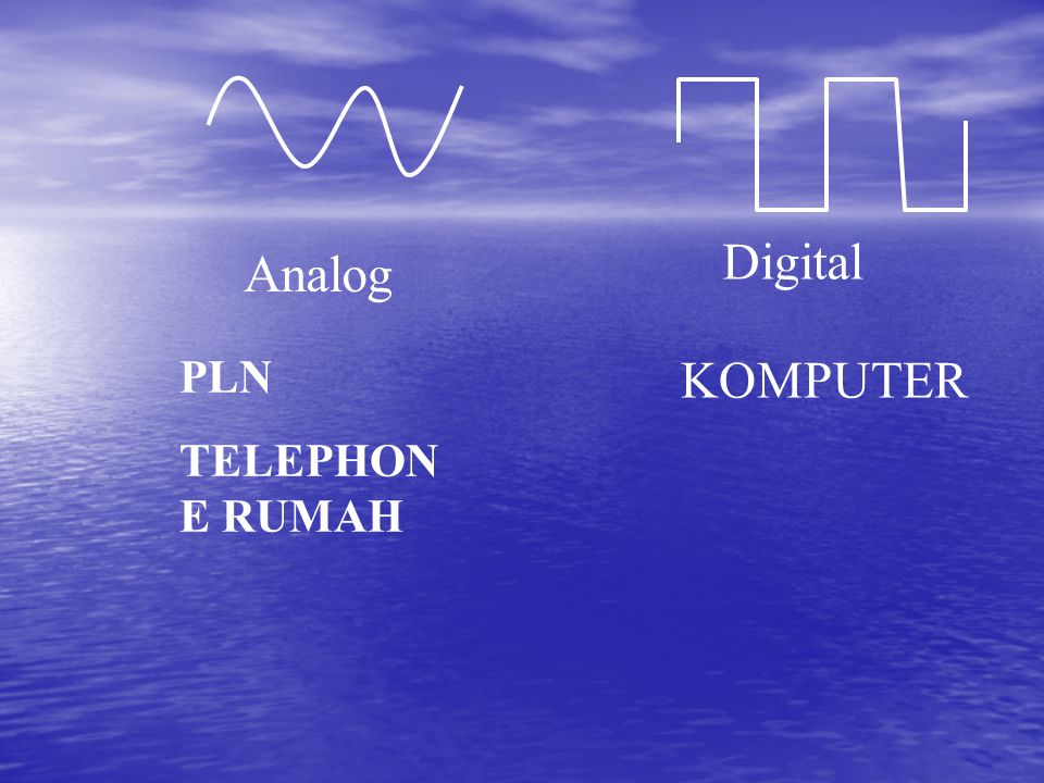 Digital Analog PLN TELEPHONE RUMAH KOMPUTER