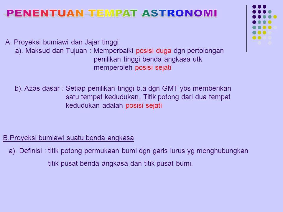 PENENTUAN TEMPAT ASTRONOMI
