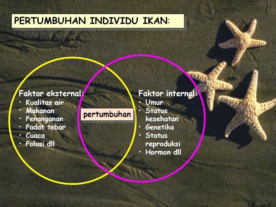 PERTUMBUHAN INDIVIDU IKAN: