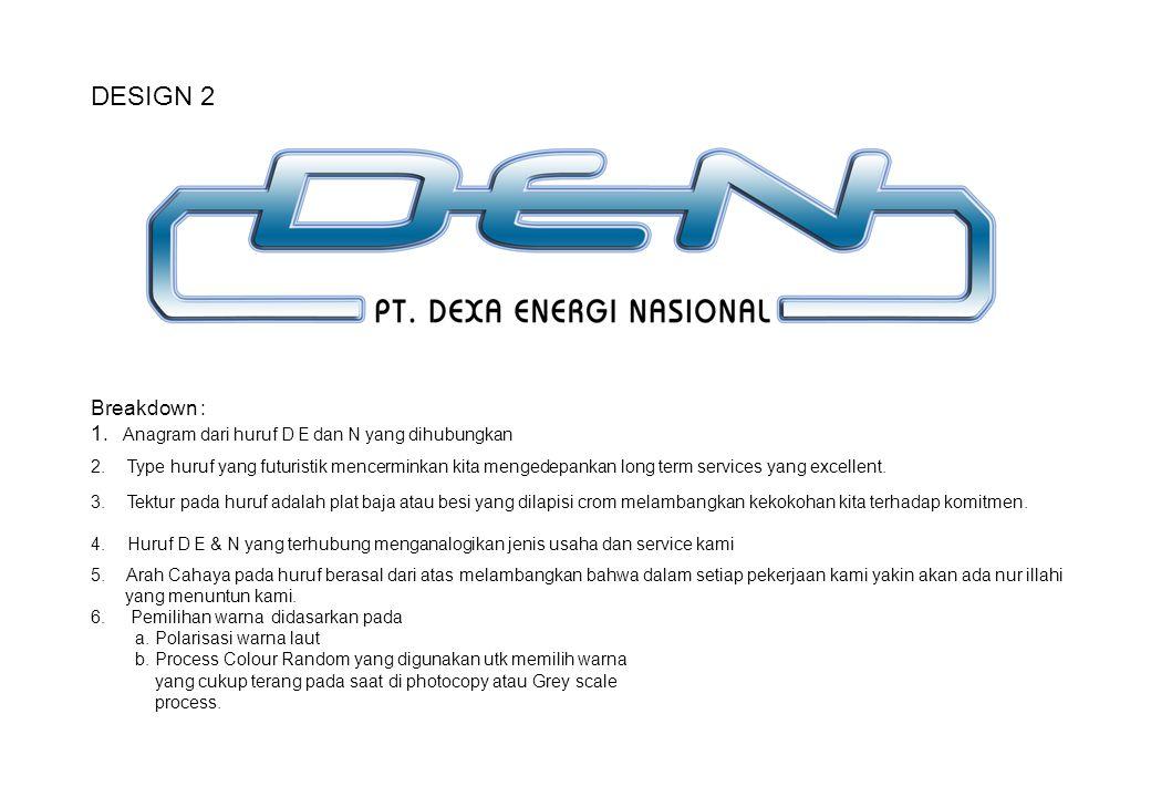DESIGN 2 Breakdown : Anagram dari huruf D E dan N yang dihubungkan