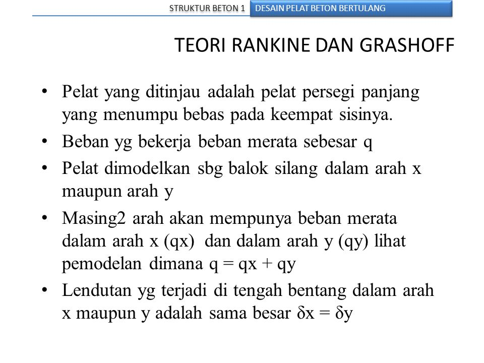 TEORI RANKINE DAN GRASHOFF