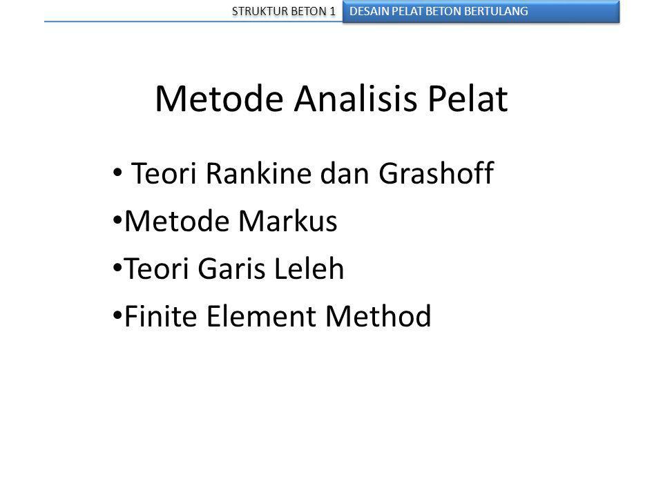 Metode Analisis Pelat Teori Rankine dan Grashoff Metode Markus