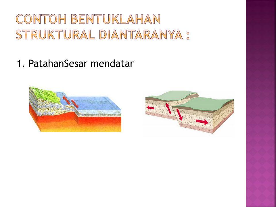 contoh bentuklahan struktural diantaranya :