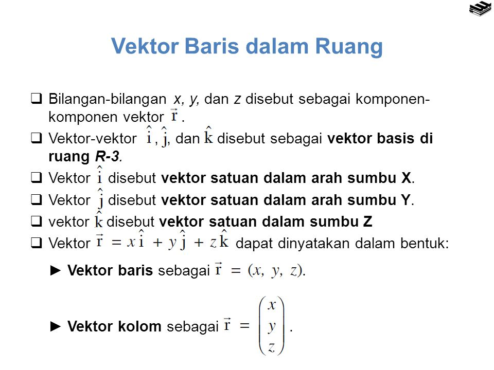 Vektor Baris dalam Ruang