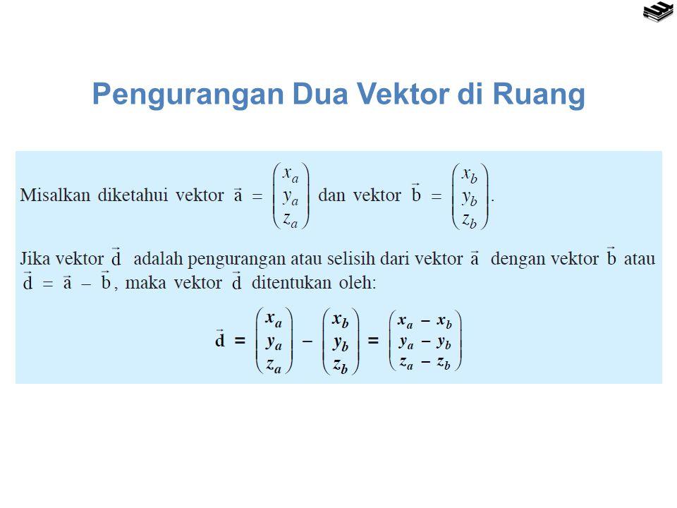 Pengurangan Dua Vektor di Ruang