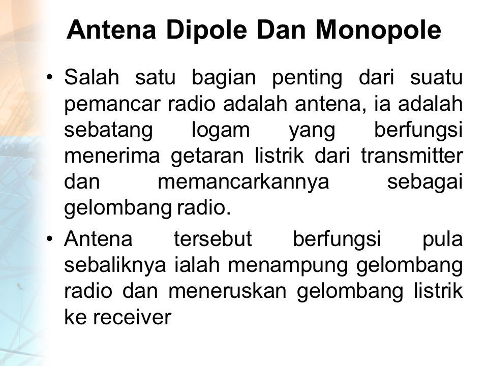 Antena Dipole Dan Monopole